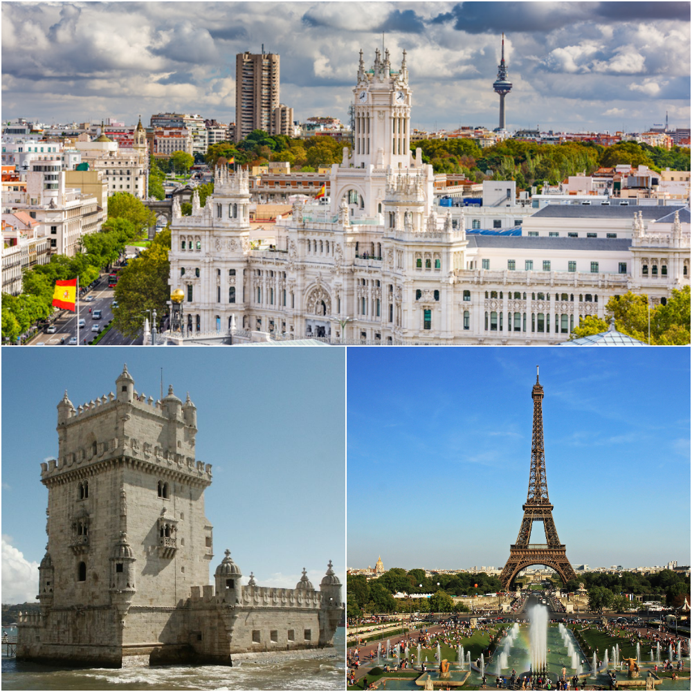 Lisbon, Madrid and Paris in 10 days